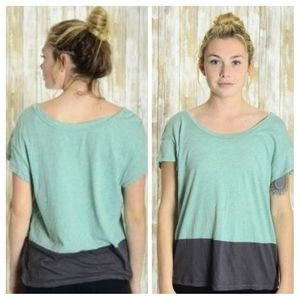 NWT Gentle Fawn Mint/Grey Colorblock T-shirt M